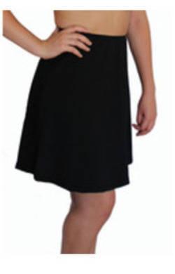 Long Swim Skirt - Black Chlorine Resistant