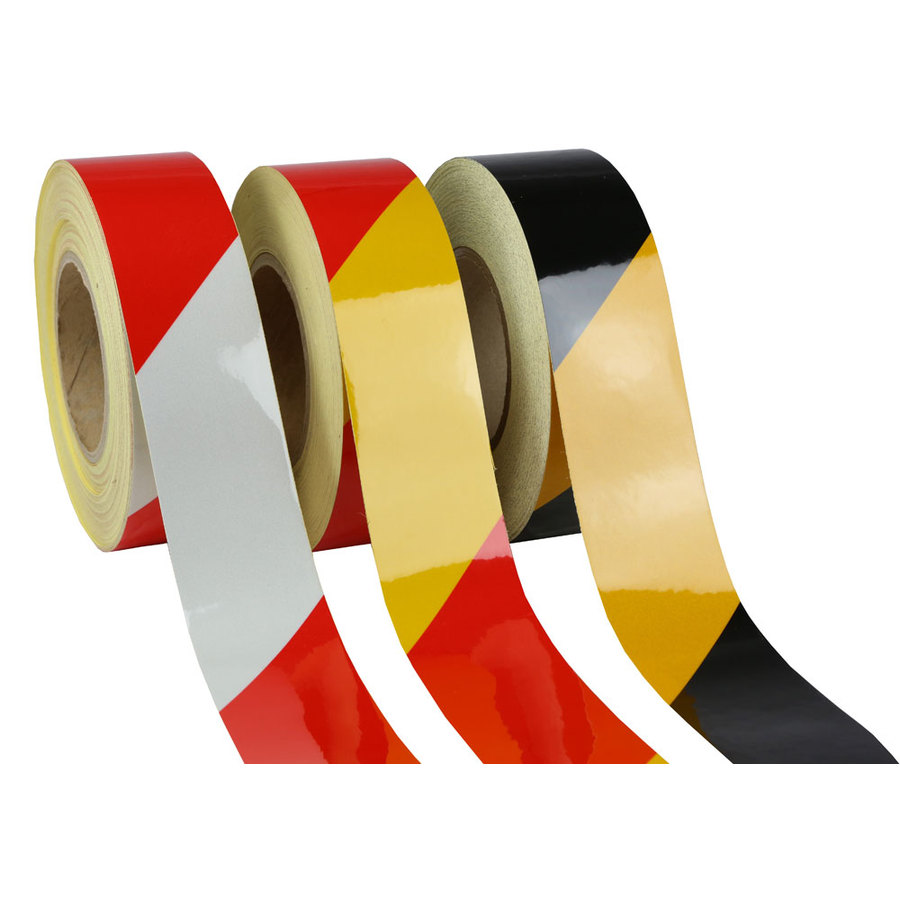 100mm X 457mtrs Class 2 Reflective Tape Striped