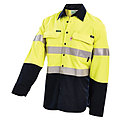 HRC2 HI-VIS 2-TONE LIGHTWEIGHT DRILL SHIRT WITH REFLECTIVE TAPE